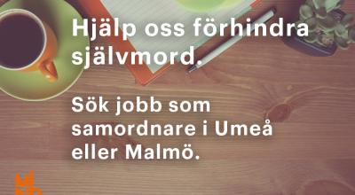 Sök jobb som samordnare i Umeå eller Malmö