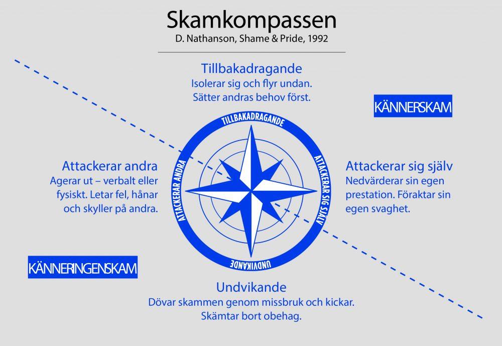 Bild på en skamkompass.